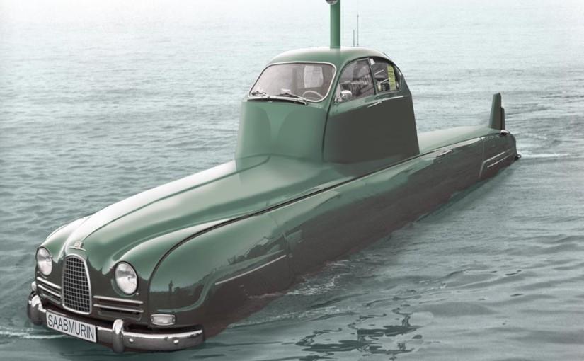 Med bildbehandling har en Saab blivit vattenburen.